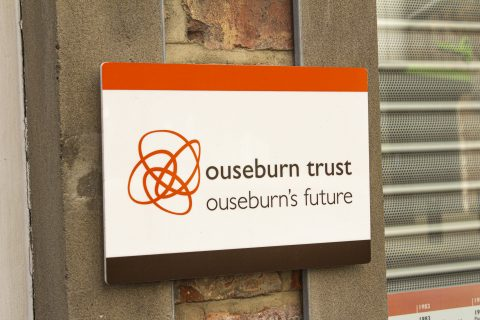Ouseburn Trust sign on Lime Street