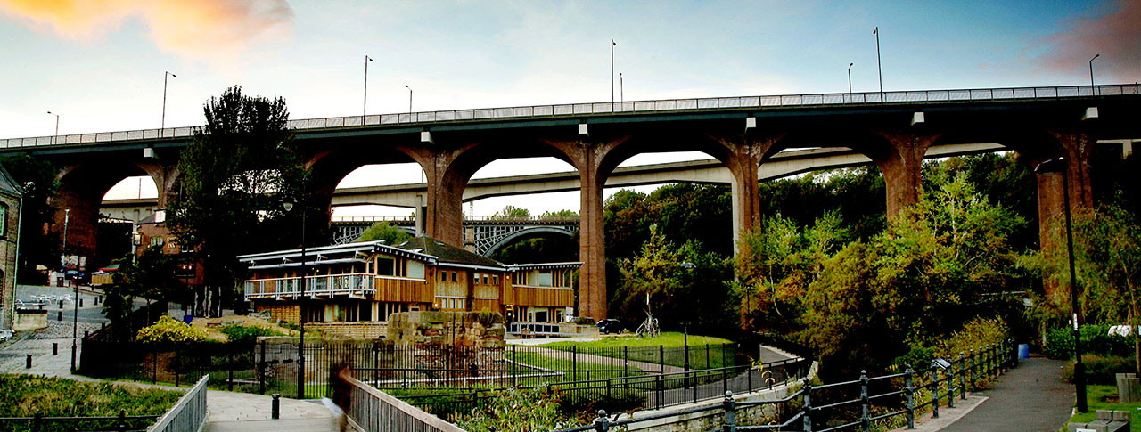 Panorama of the Ouseburn Valley