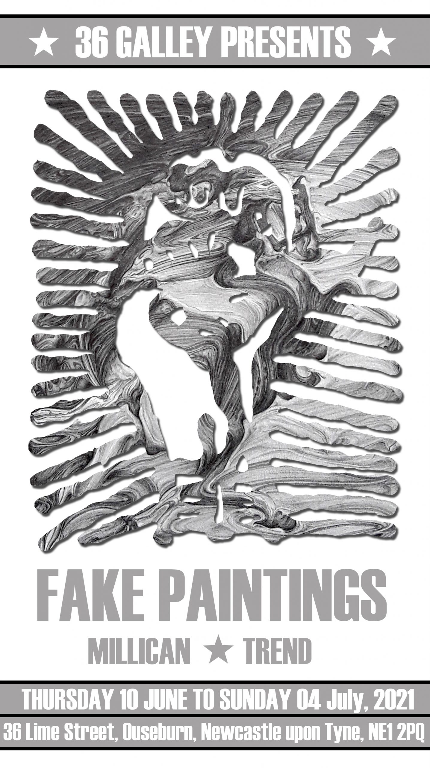 Poster for fake paintings exhibition