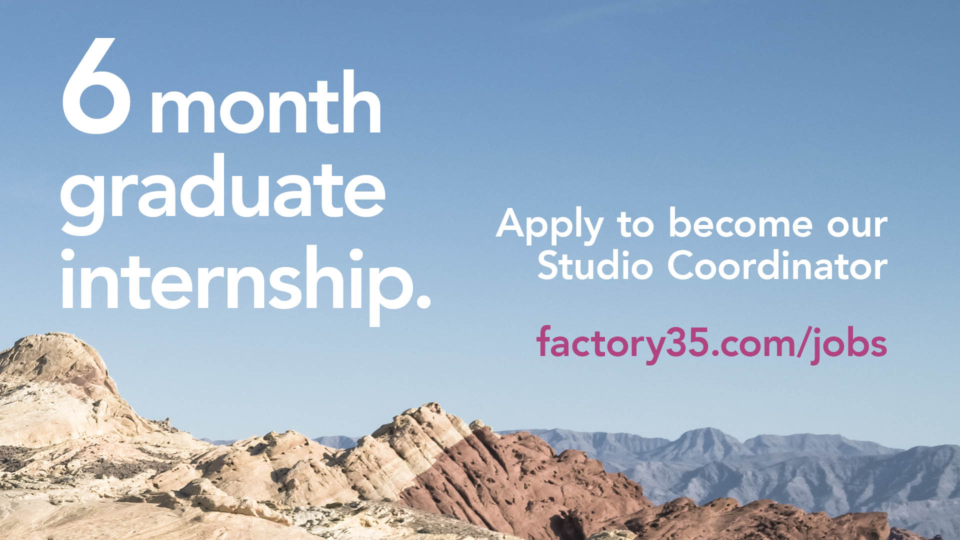 Opportunities in Ouseburn: Graduate Internship at Factory 35